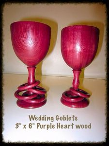 Wedding Goblets, with Captive Rings